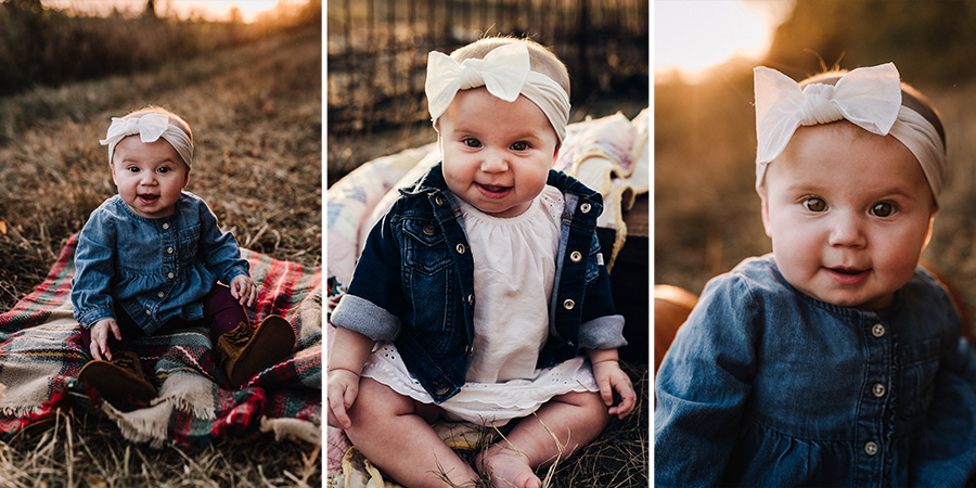 Fall Sunset Little Girl Session [Terry Farms Photography]