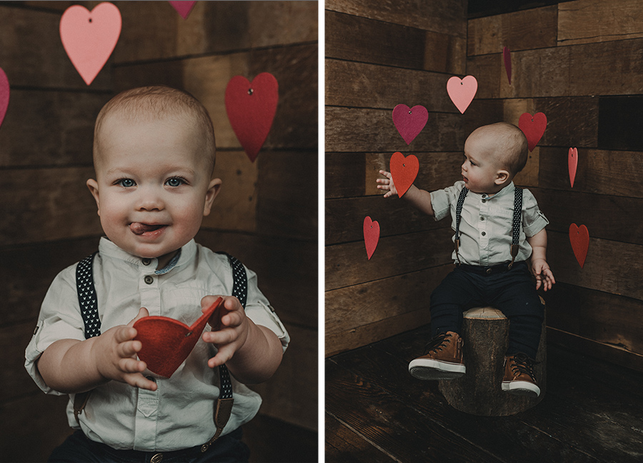 Rustic Valentine's Day Boy Session [Terry Farms Photography]