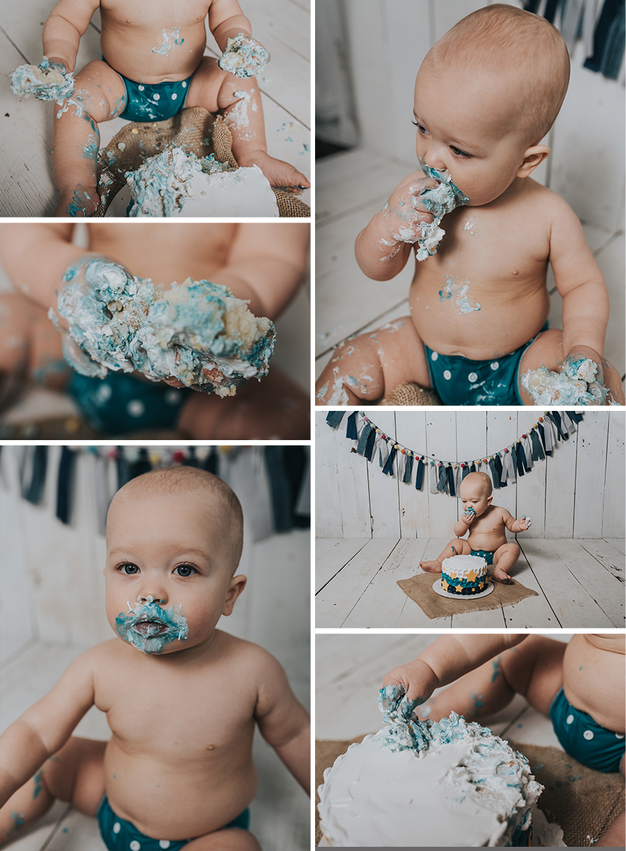 One Year Star Cake Smash [Terry Farms Photography]