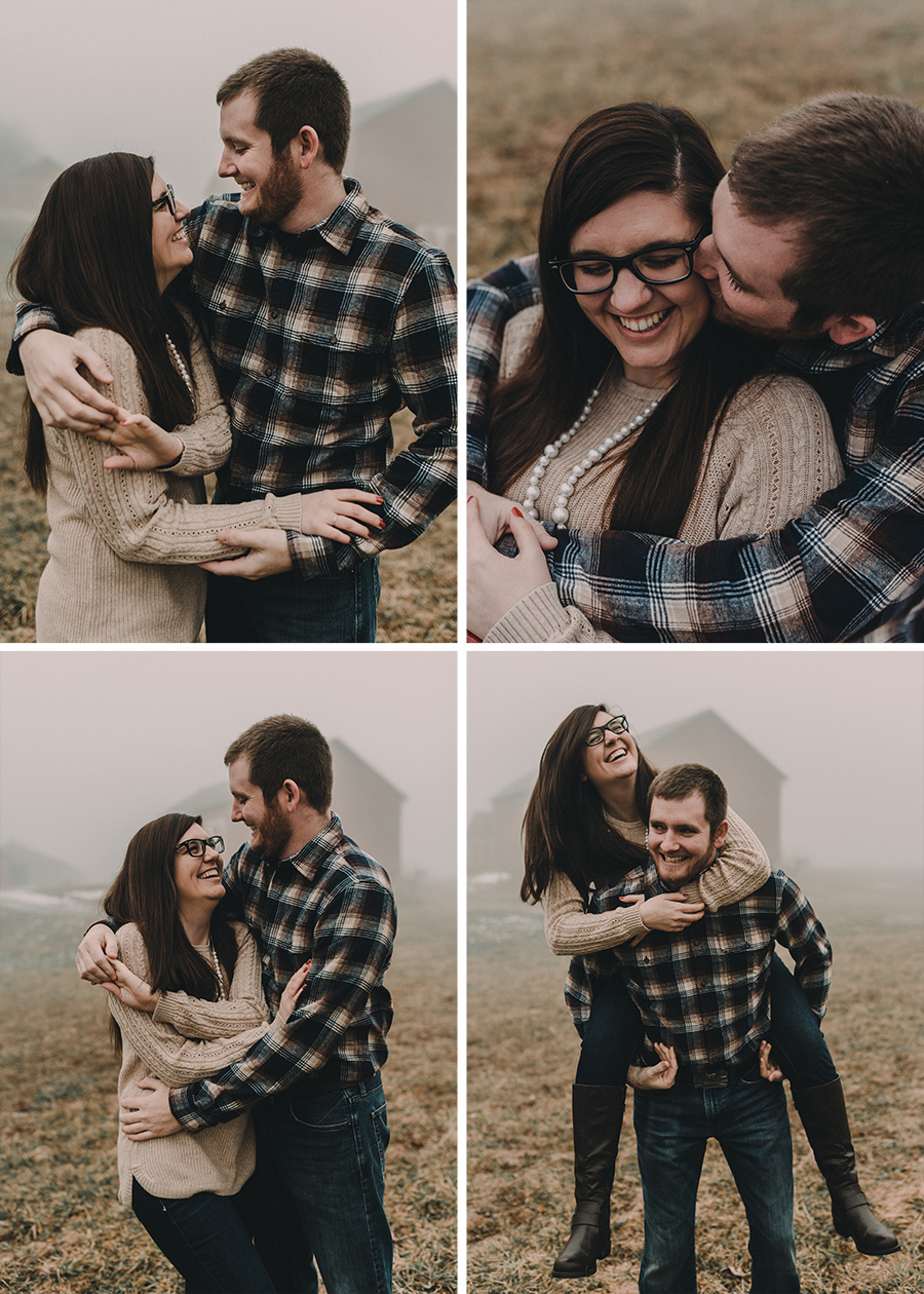Candid Rustic Country Engagement Session [Terry Farms Photography]