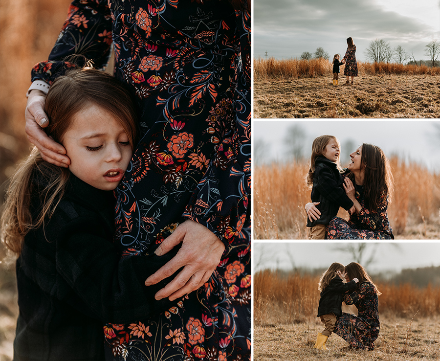 Rustic Sunset Mama & Me Field Session [Terry Farms Photography]