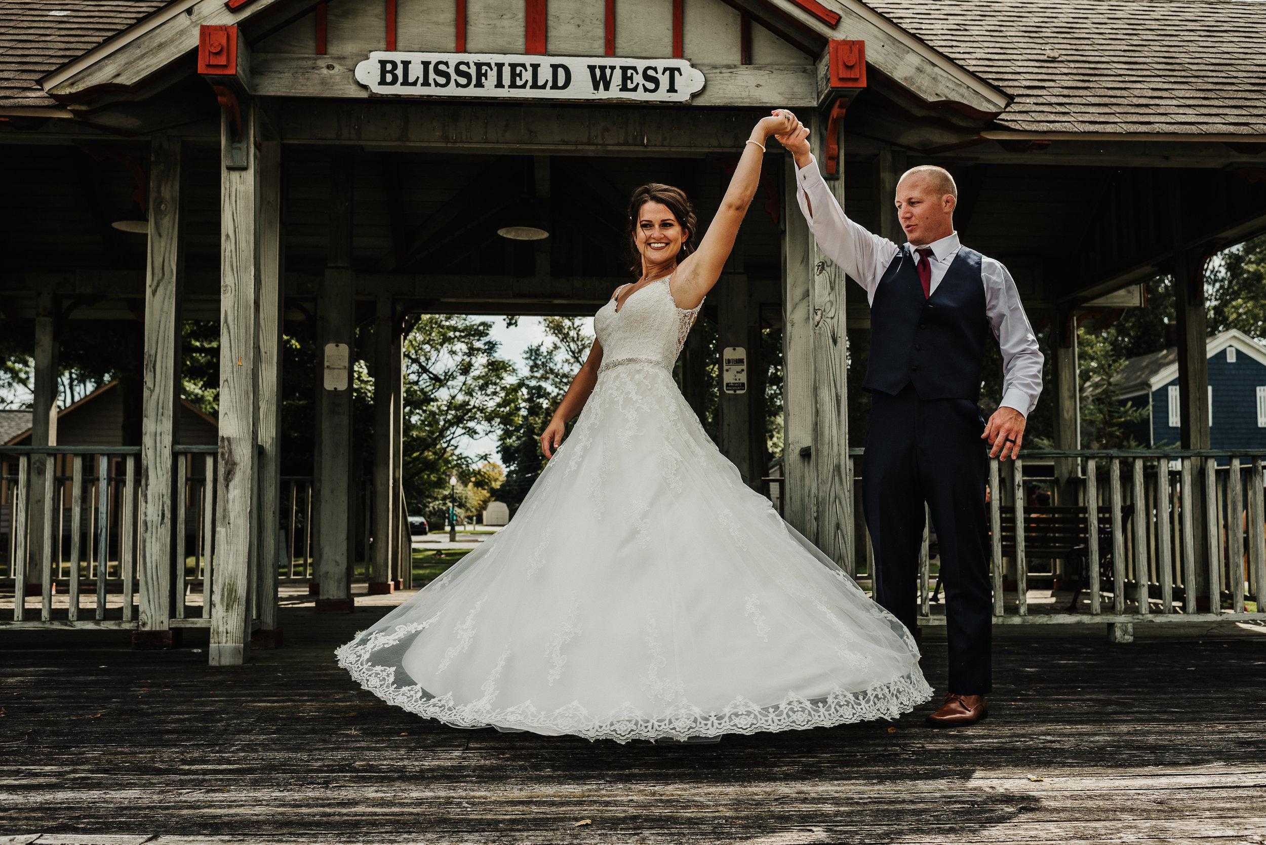 Small town summer wedding