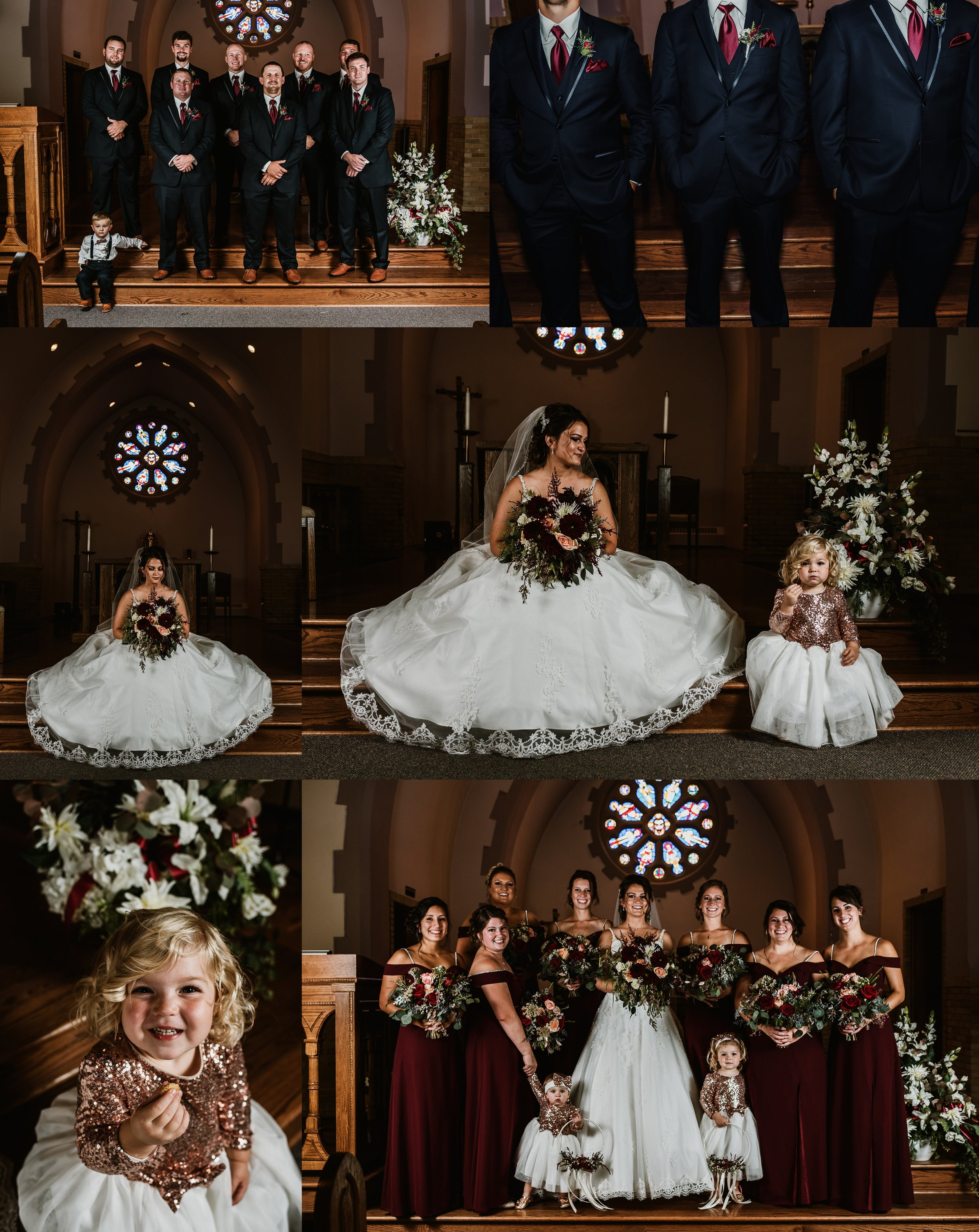 Formal Catholic Wedding Photos