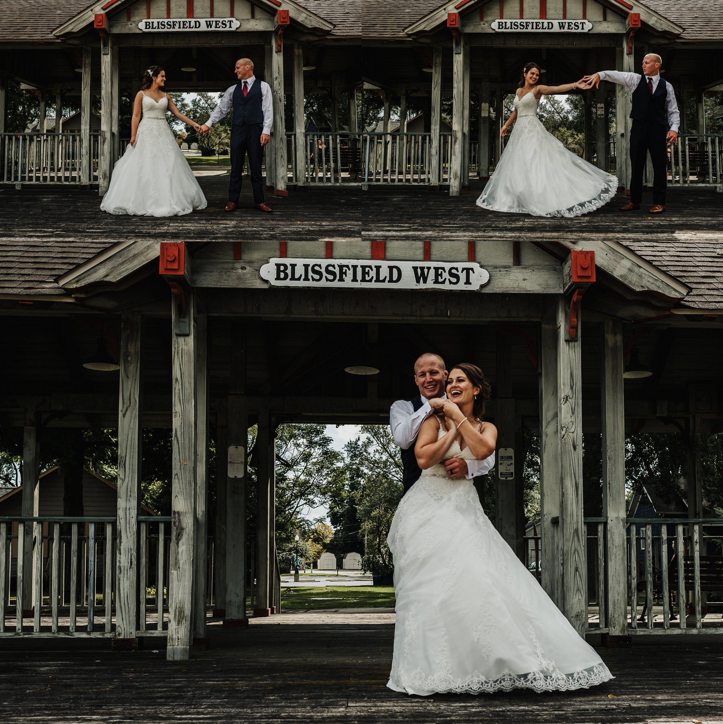 Bride and Groom Twirl