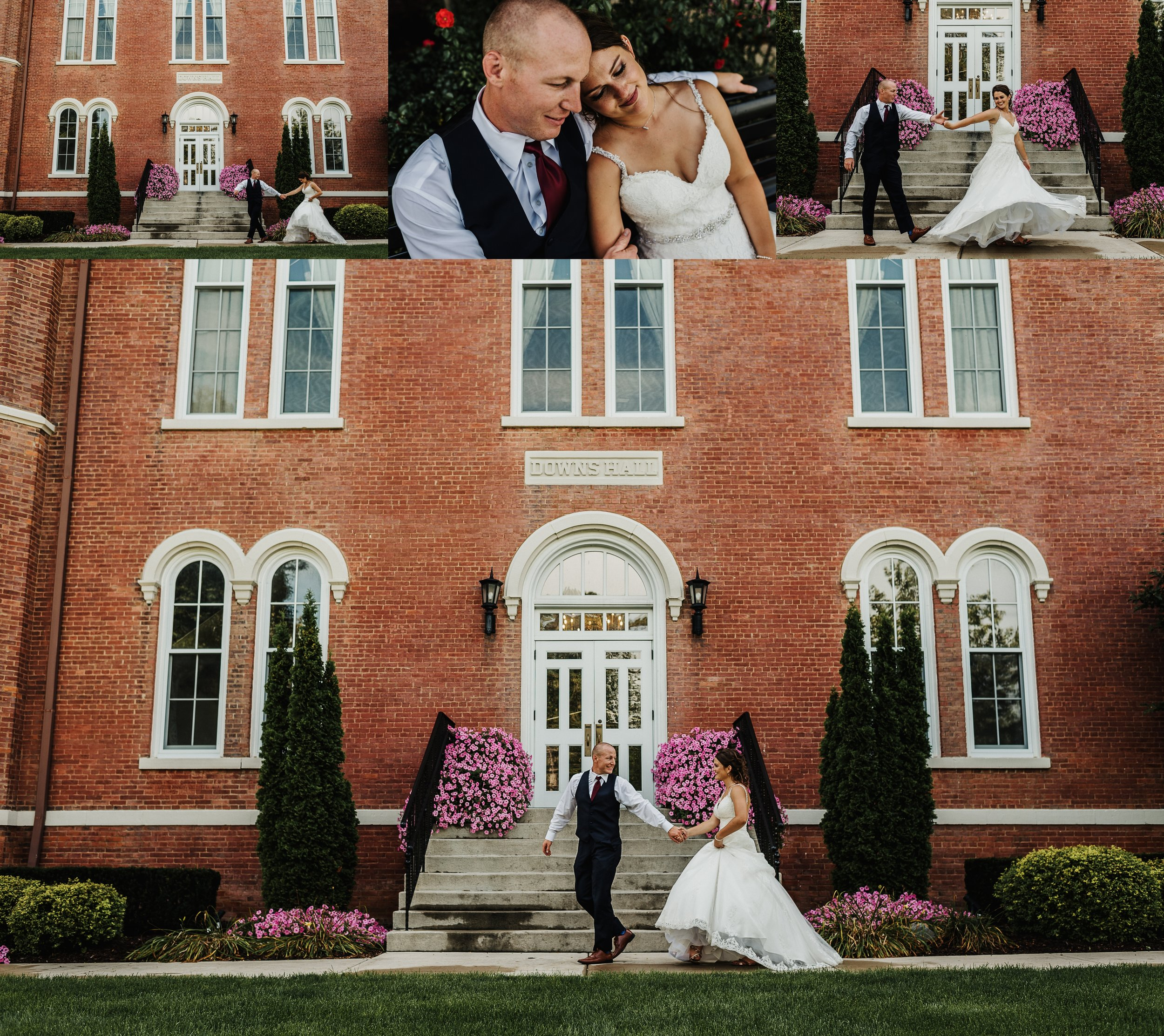 Bride and Groom Love, Adrian College Michigan