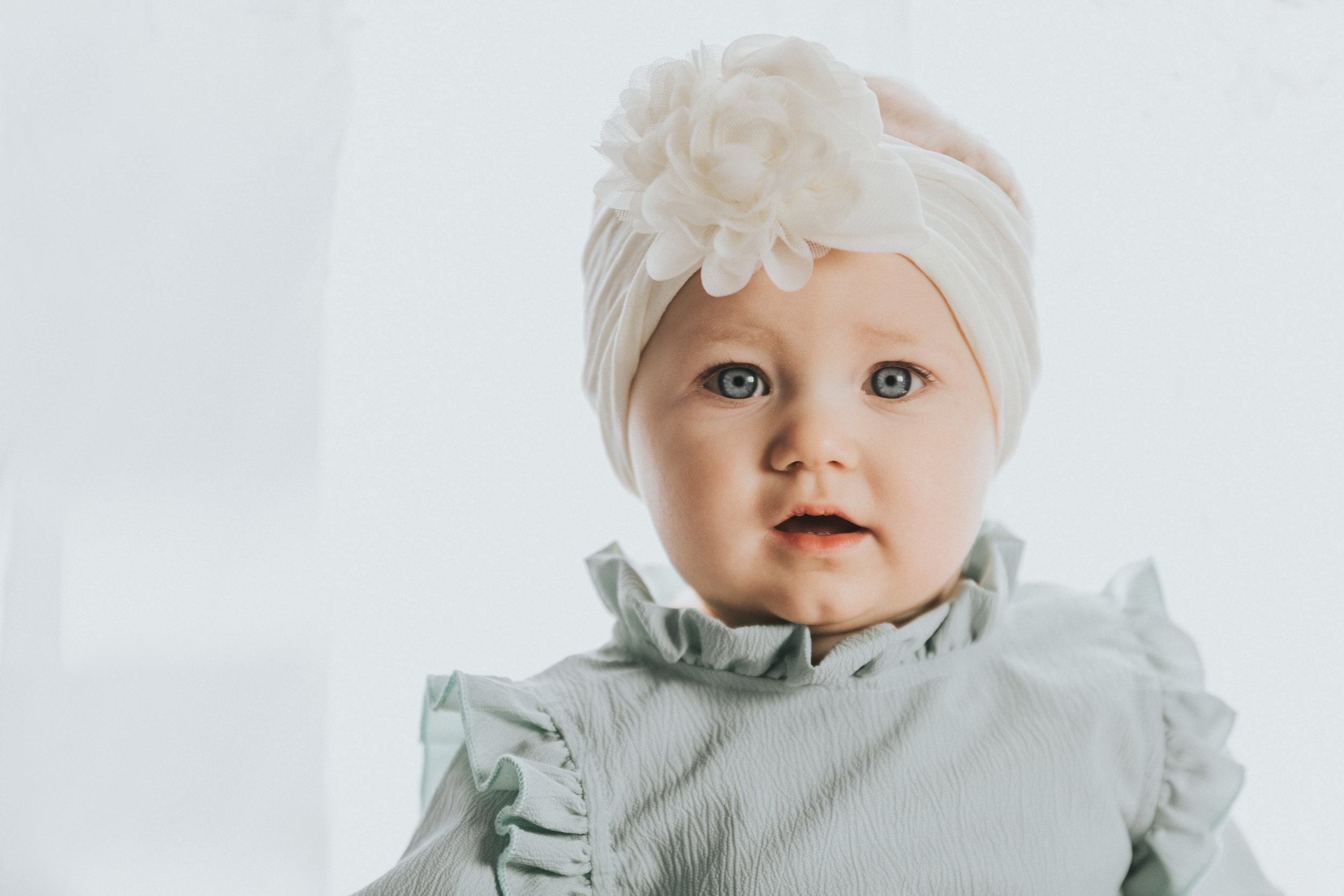 Vintage Baby Girl Photo Session | Nine Months Old | Rustic Photo Shoot | Terry Farms Photography