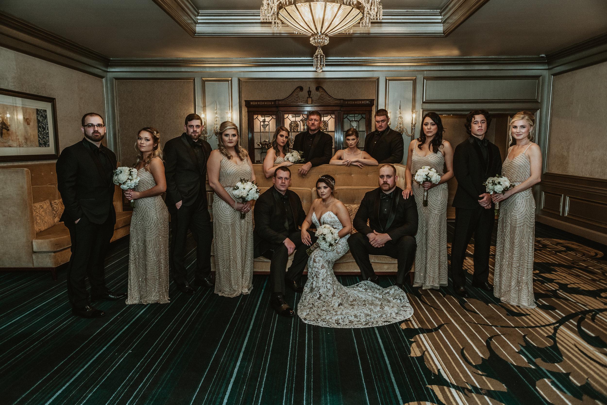 Classic Vintage Wedding   Ritz Carlton Atlanta, Georgia   Terry Farms Photography   Wedding Party Photo