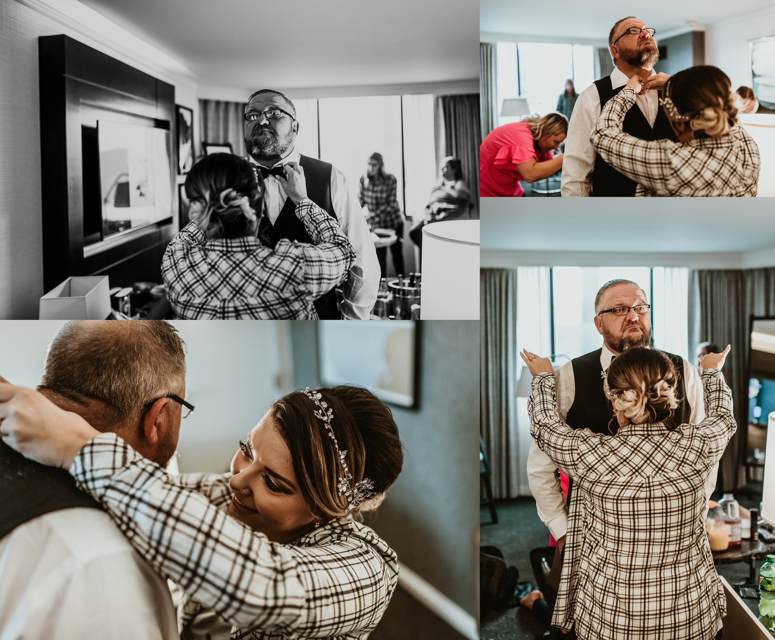 Classic Vintage Wedding | Ritz Carlton Atlanta, Georgia | Terry Farms Photography | Getting Ready Photo | Father Daughter Wedding Day