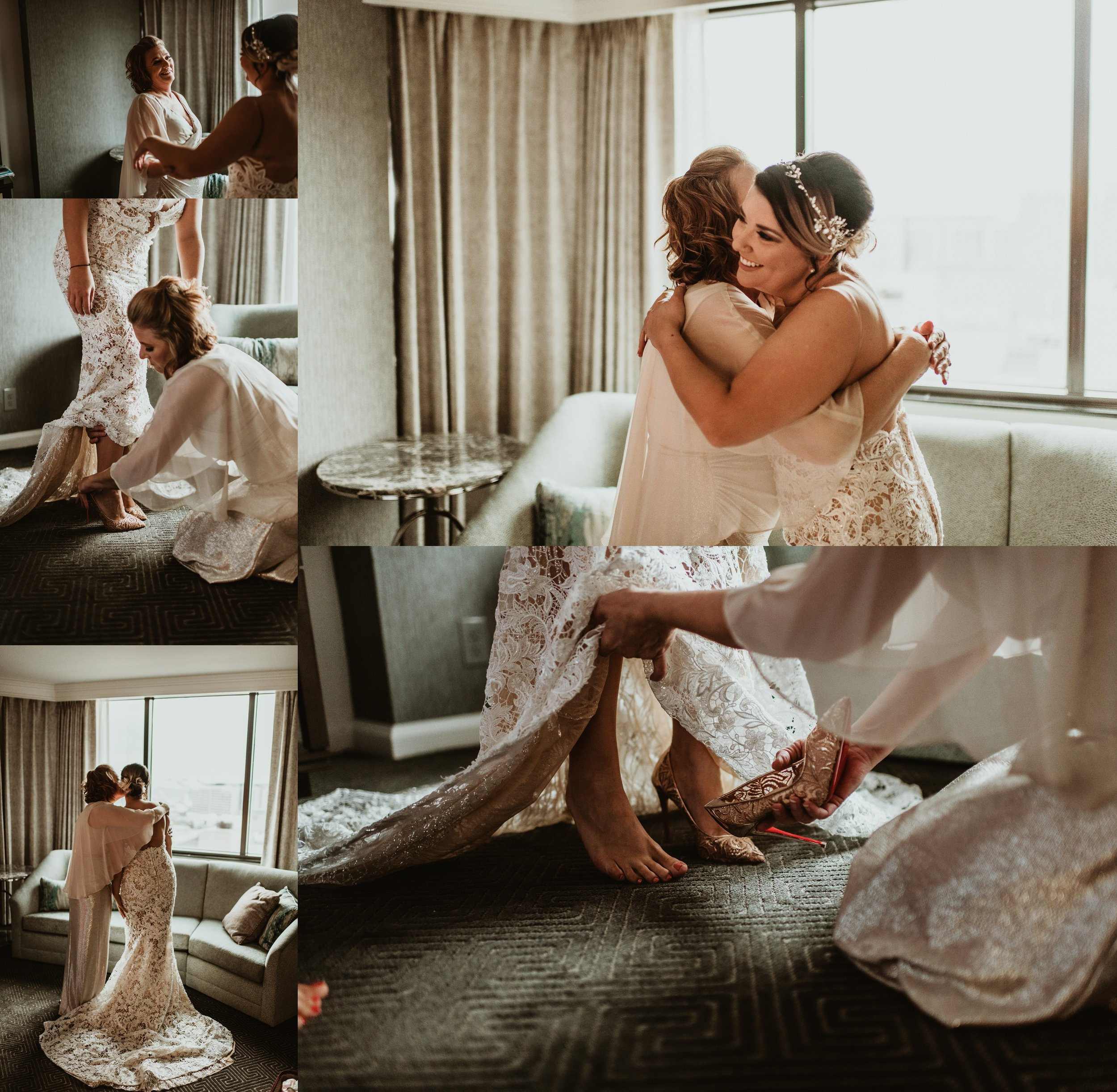 Classic Vintage Wedding | Ritz Carlton Atlanta, Georgia | Terry Farms Photography | Wedding Mother Daughter Getting Ready Photo