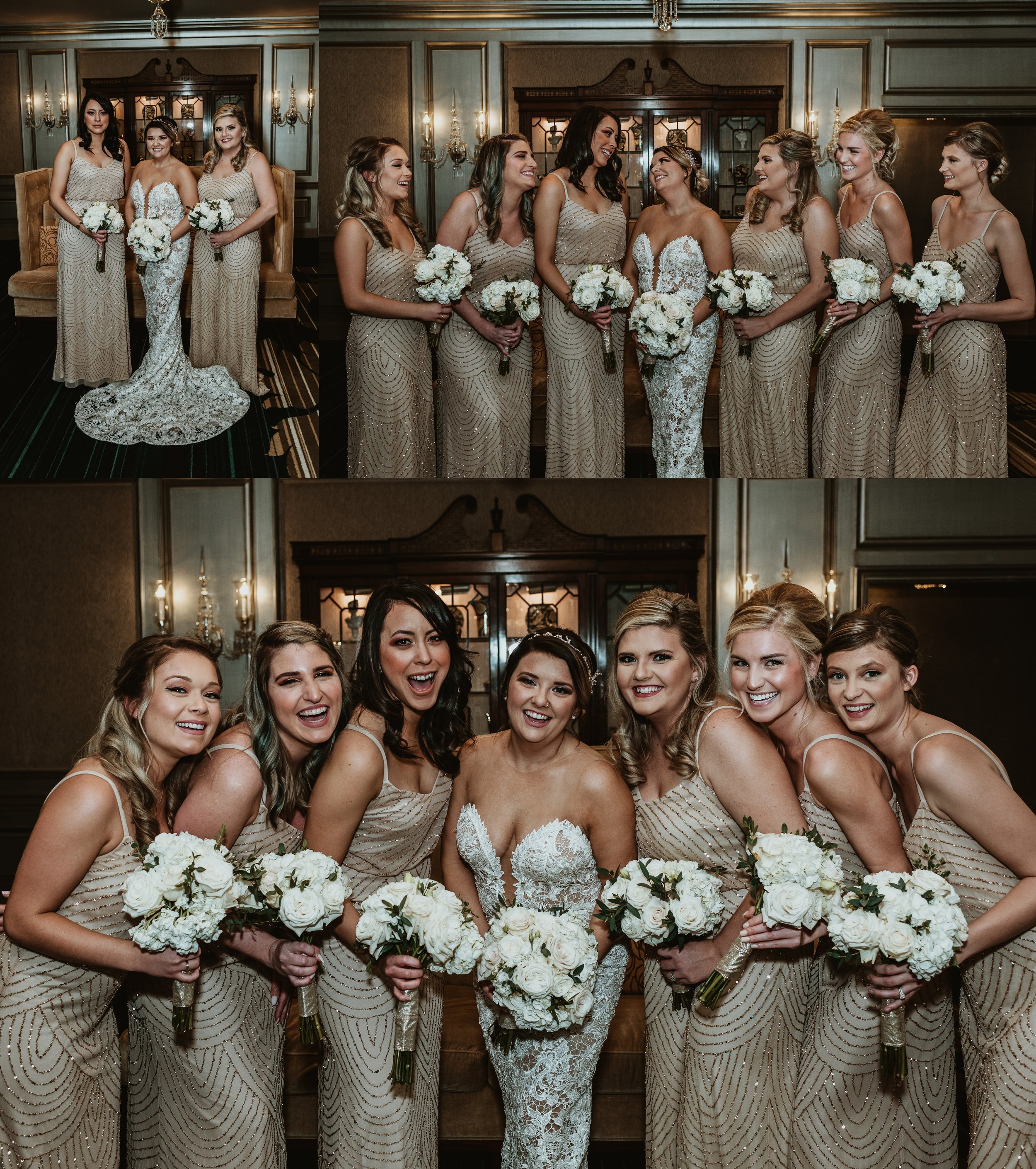 Classic Vintage Wedding | Ritz Carlton Atlanta, Georgia | Terry Farms Photography | Wedding Party Photo | Bridesmaid Photos