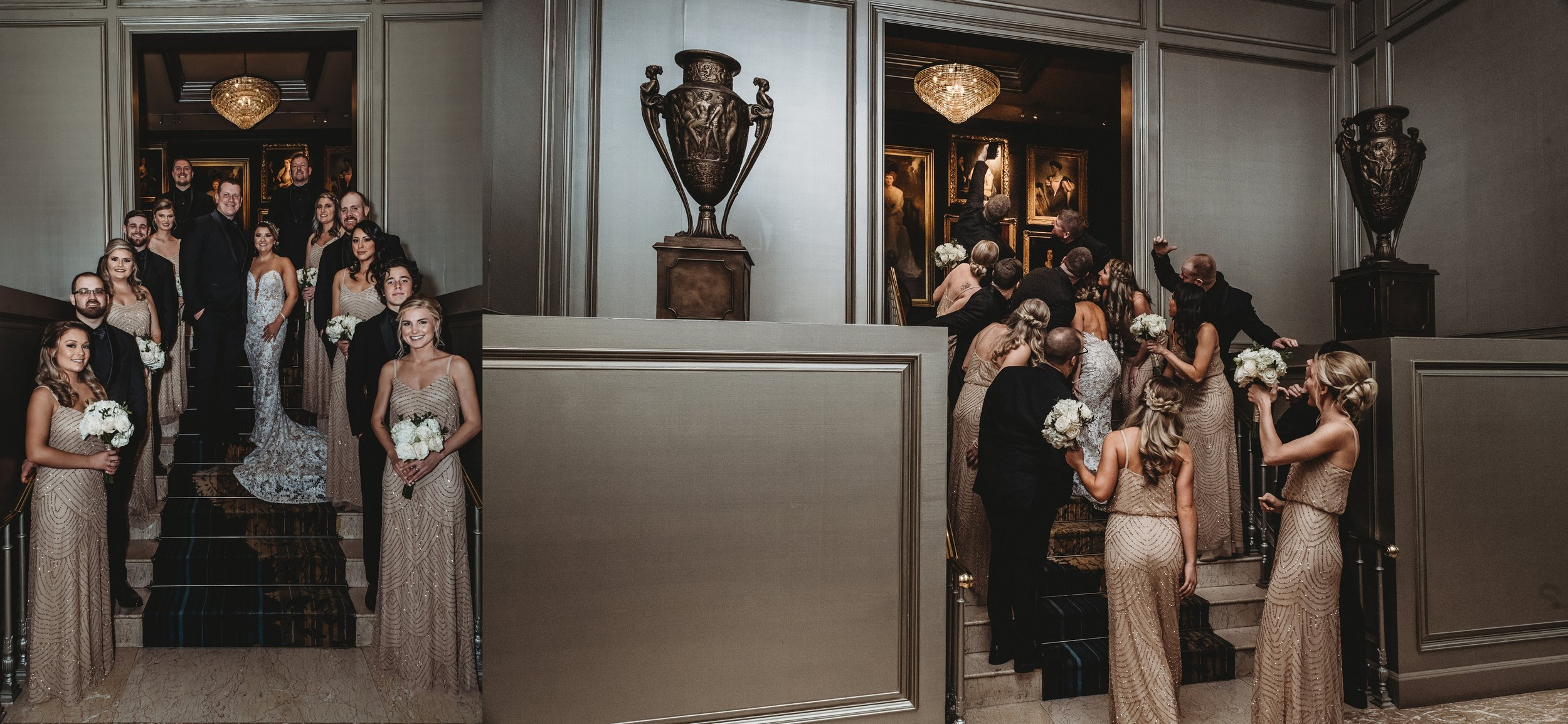 Classic Vintage Wedding | Ritz Carlton Atlanta, Georgia | Terry Farms Photography | Wedding Party Photo