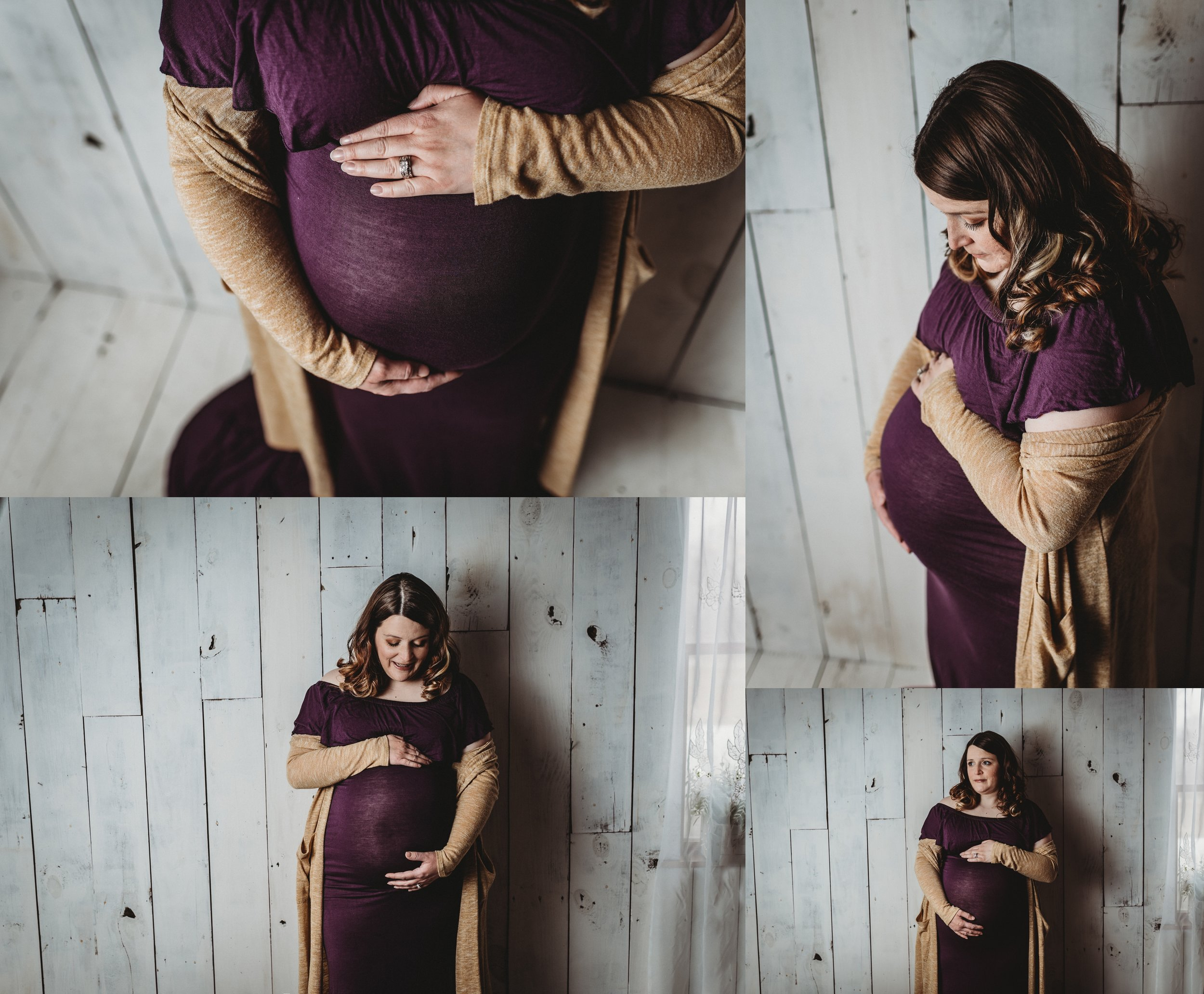 Maternity Photography | Studio Session | Farmhouse Style | Sibling Maternity Photo | Baby Bump