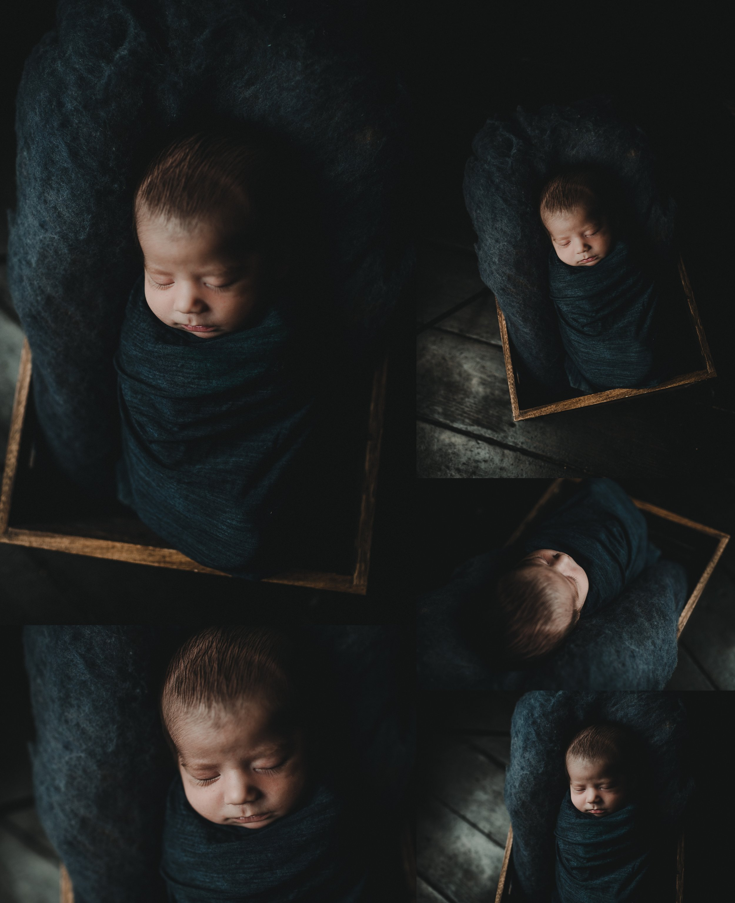 Farmhouse Rustic Studio Newborn Session | Baby Boy | Barn wood | Terry Farms Photography