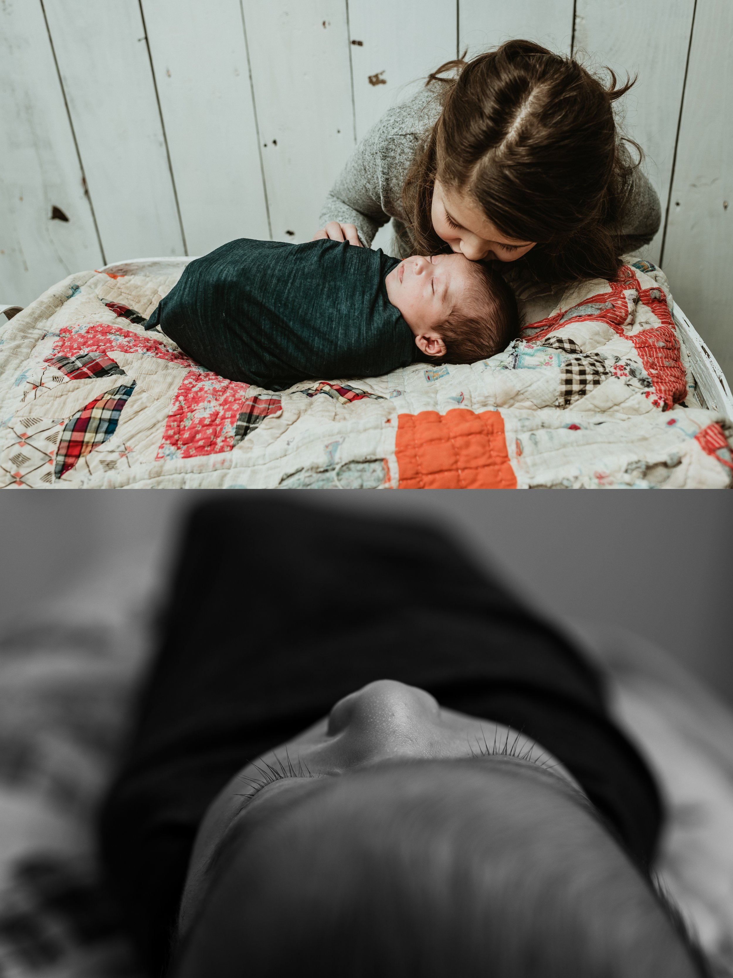Rustic Newborn Photo Session | Baby Boy | Farmhouse Newborn Studio Session | Sibling Photo | Terry Farms Photography