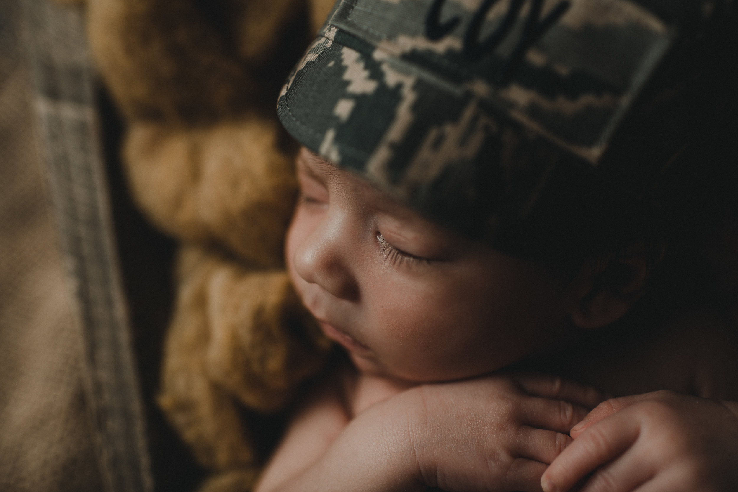 Rustic Newborn Photo Session | Baby Boy | Farmhouse Newborn Studio Session | Military Baby Boy | Terry Farms Photography