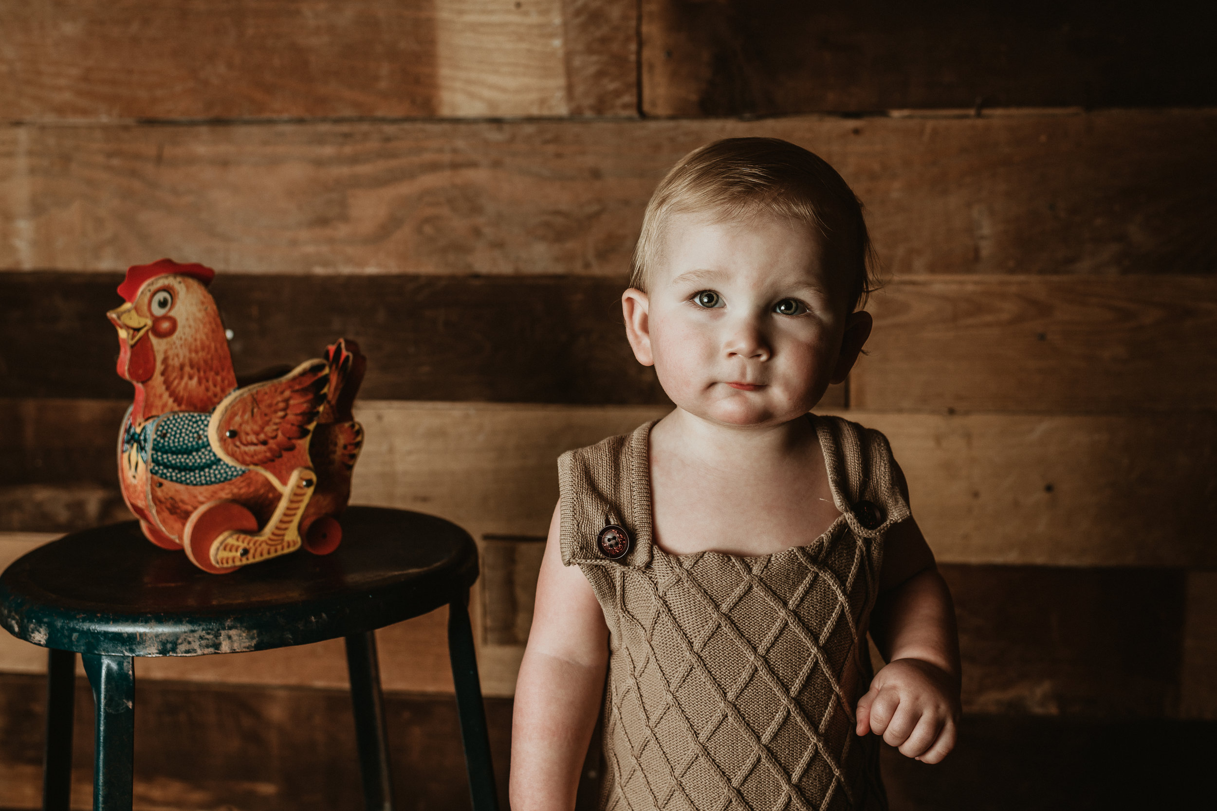 One Year Birthday Photo Session | Farmhouse Style | Rustic Little Boy Photos | First Birthday Photos