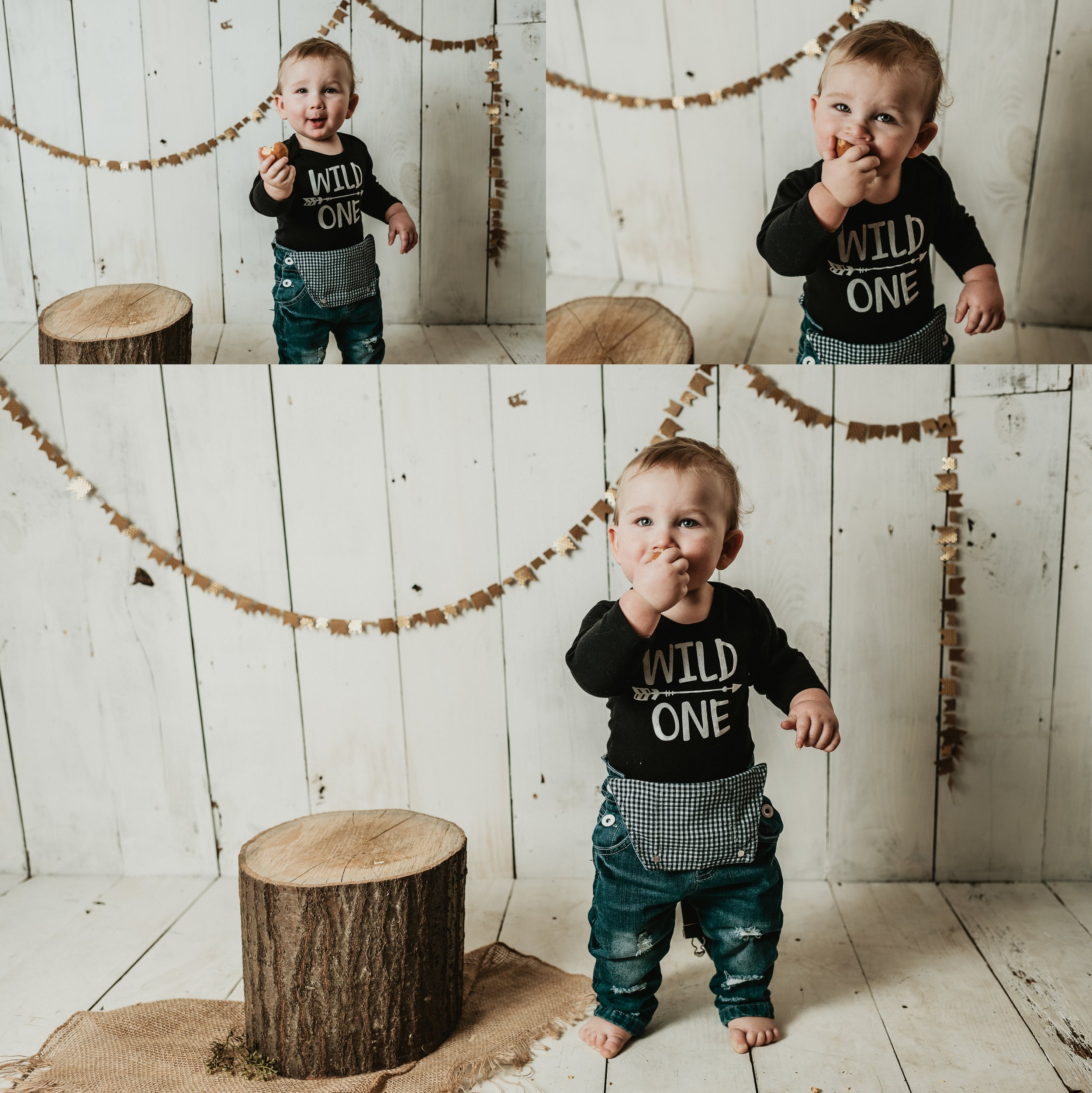 Wild One Baby Boy Photos | Farmhouse One Year Photo Shoot | Rustic, Vintage Little Boy Photos | Terry Farms Photography | Michigan & Ohio Photography