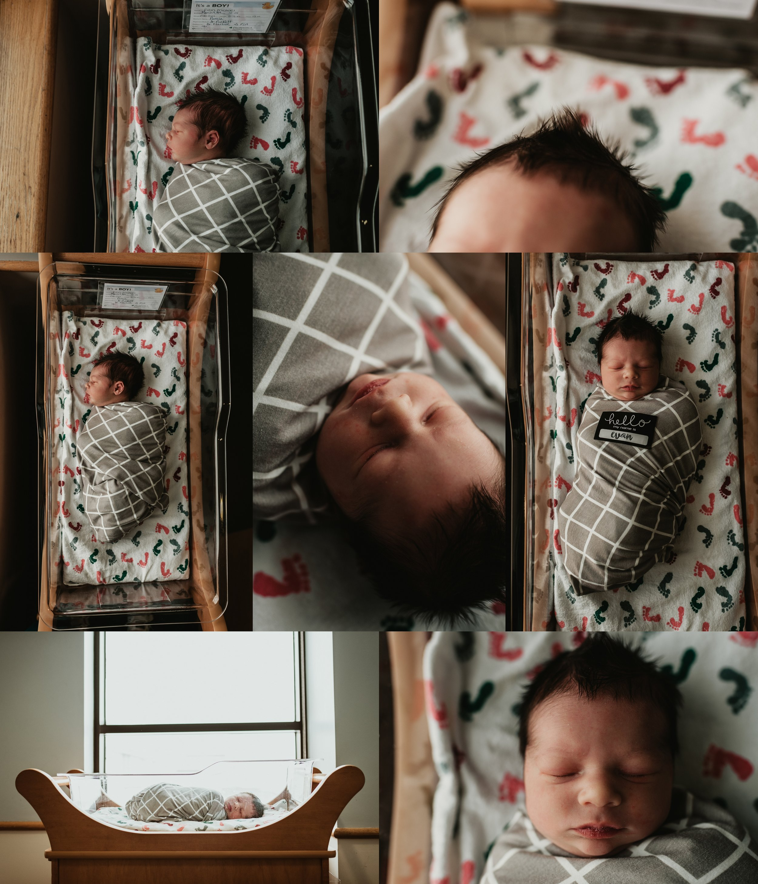 Fresh 48 Newborn Hospital Photo Session | Documentary & Lifestyle Newborn Photo | Baby Boy  | 20 Hours Old