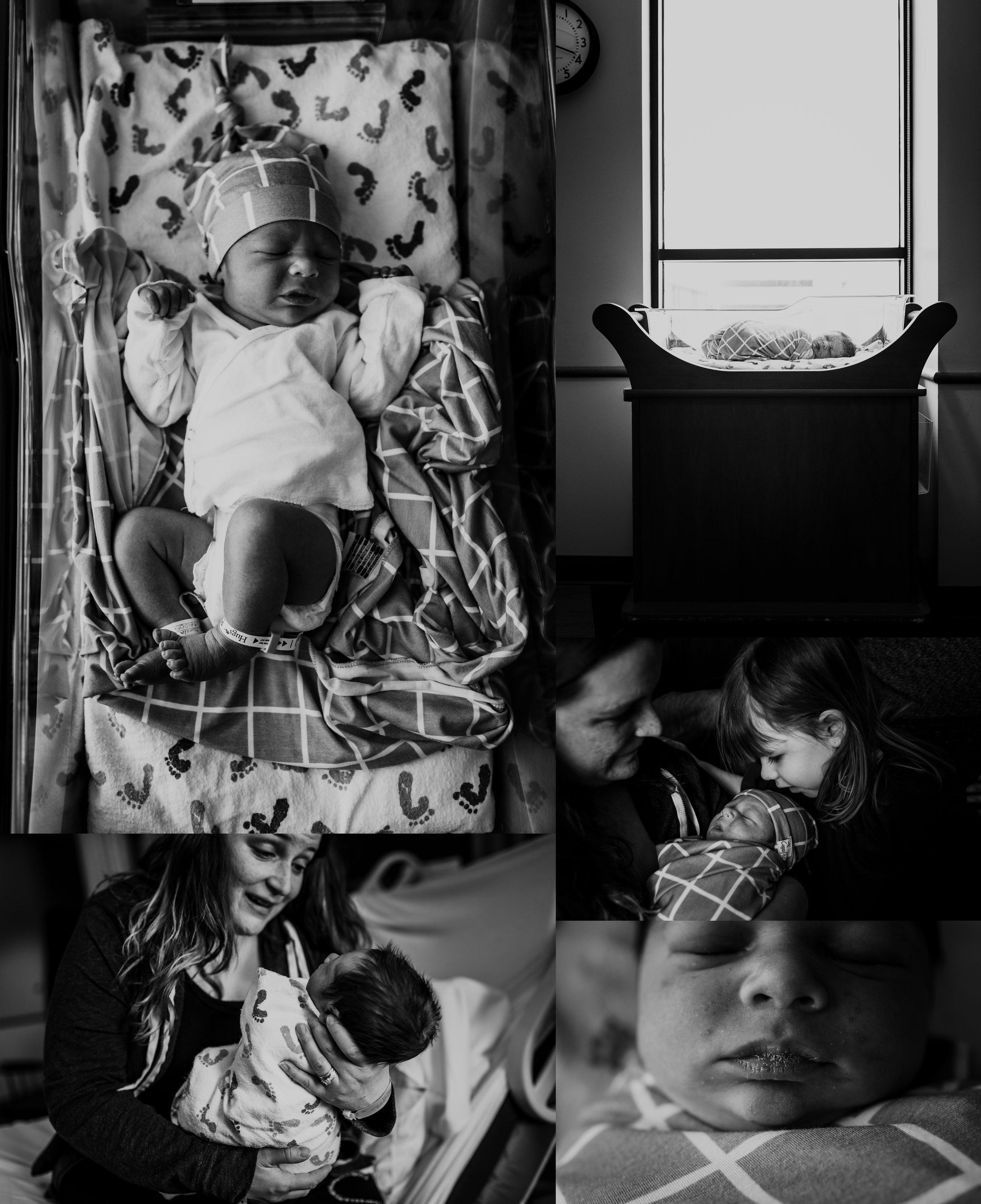 Fresh 48 Newborn Hospital Photo Session | Documentary & Lifestyle Newborn Photo | Baby Boy  | 20 Hours Old