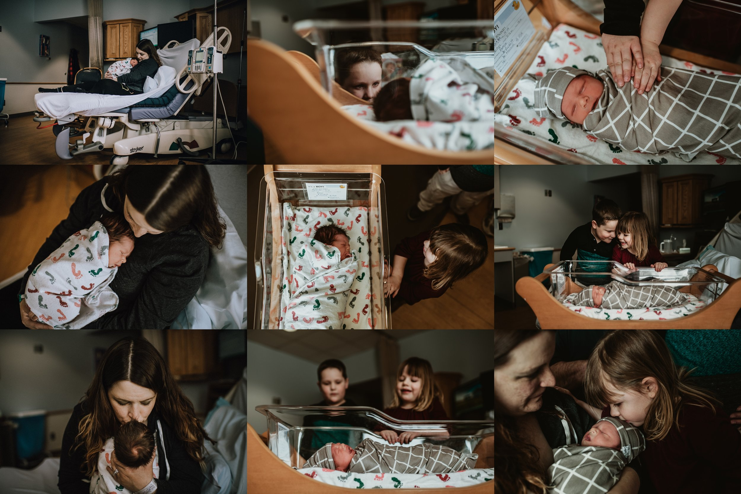 Fresh 48 Newborn Hospital Photo Session | Documentary & Lifestyle Newborn Photo | Baby Boy  | 20 Hours Old | Family Photos with Baby | Siblings Meeting Baby for First Time