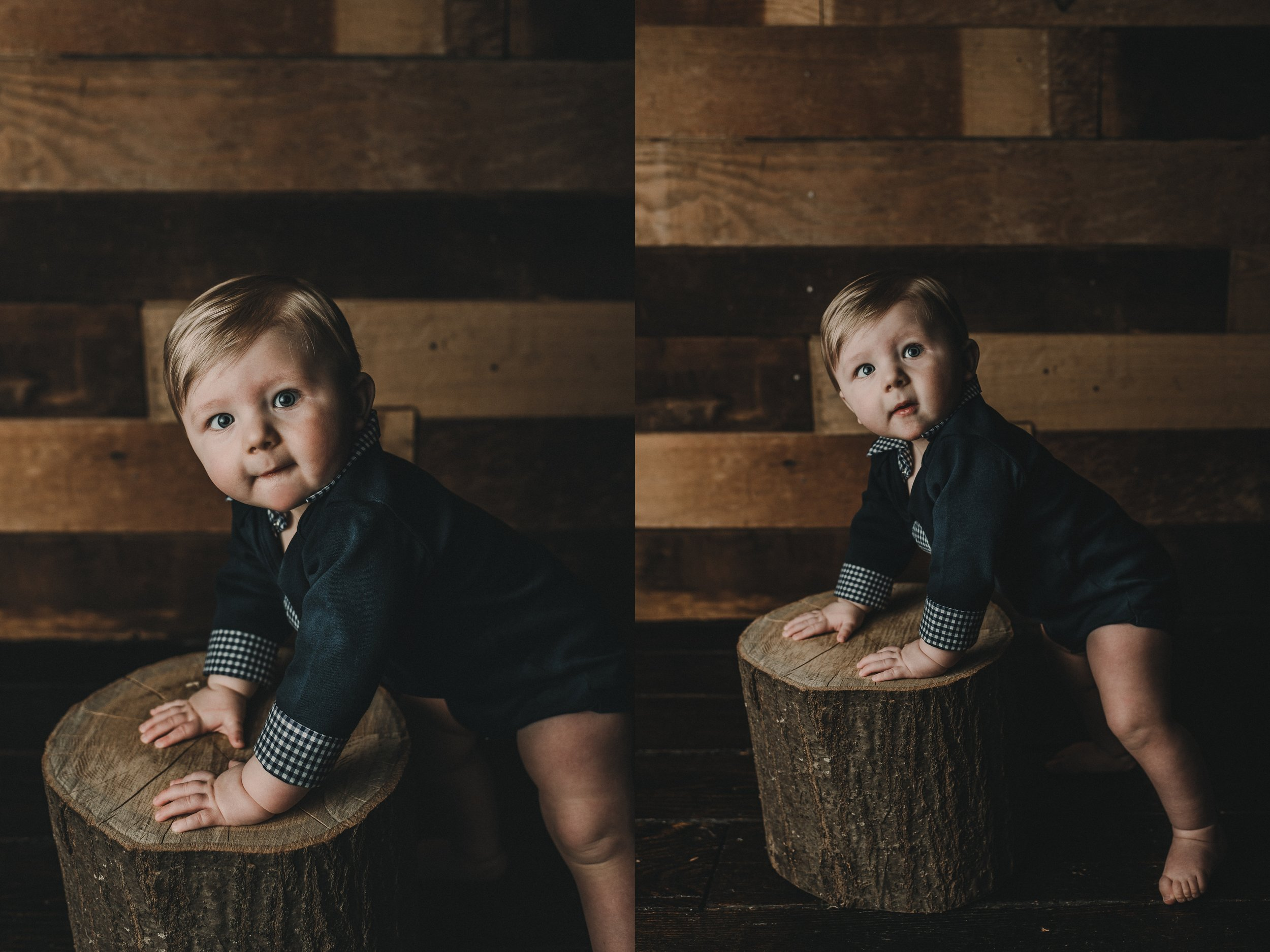Barn wood Studio Session | Baby Boy | One Year Photos | Rustic and Vintage Toddler Boy Photo Session | Terry Farms Photography