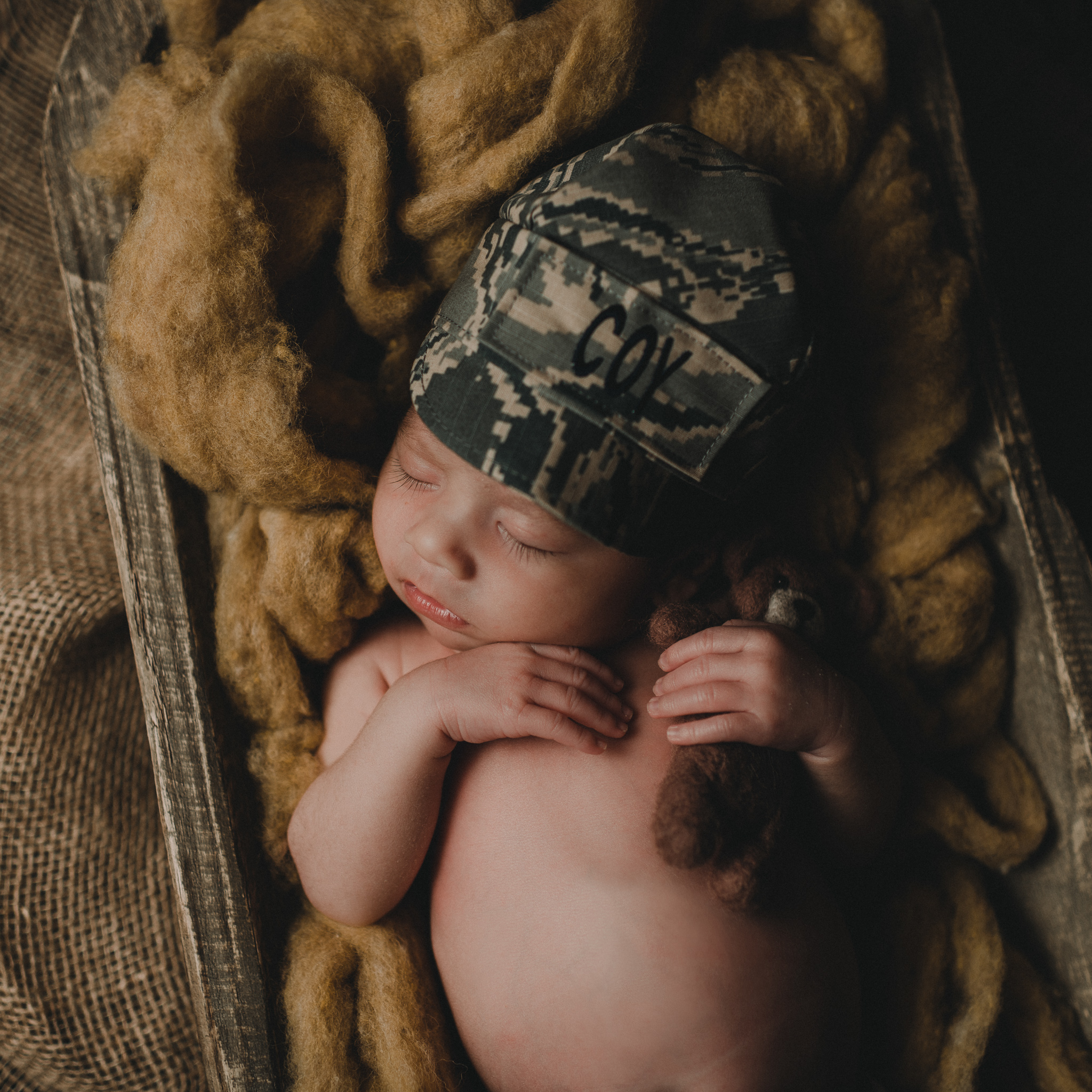 Military Newborn Baby Boy | Terry Farms Photography