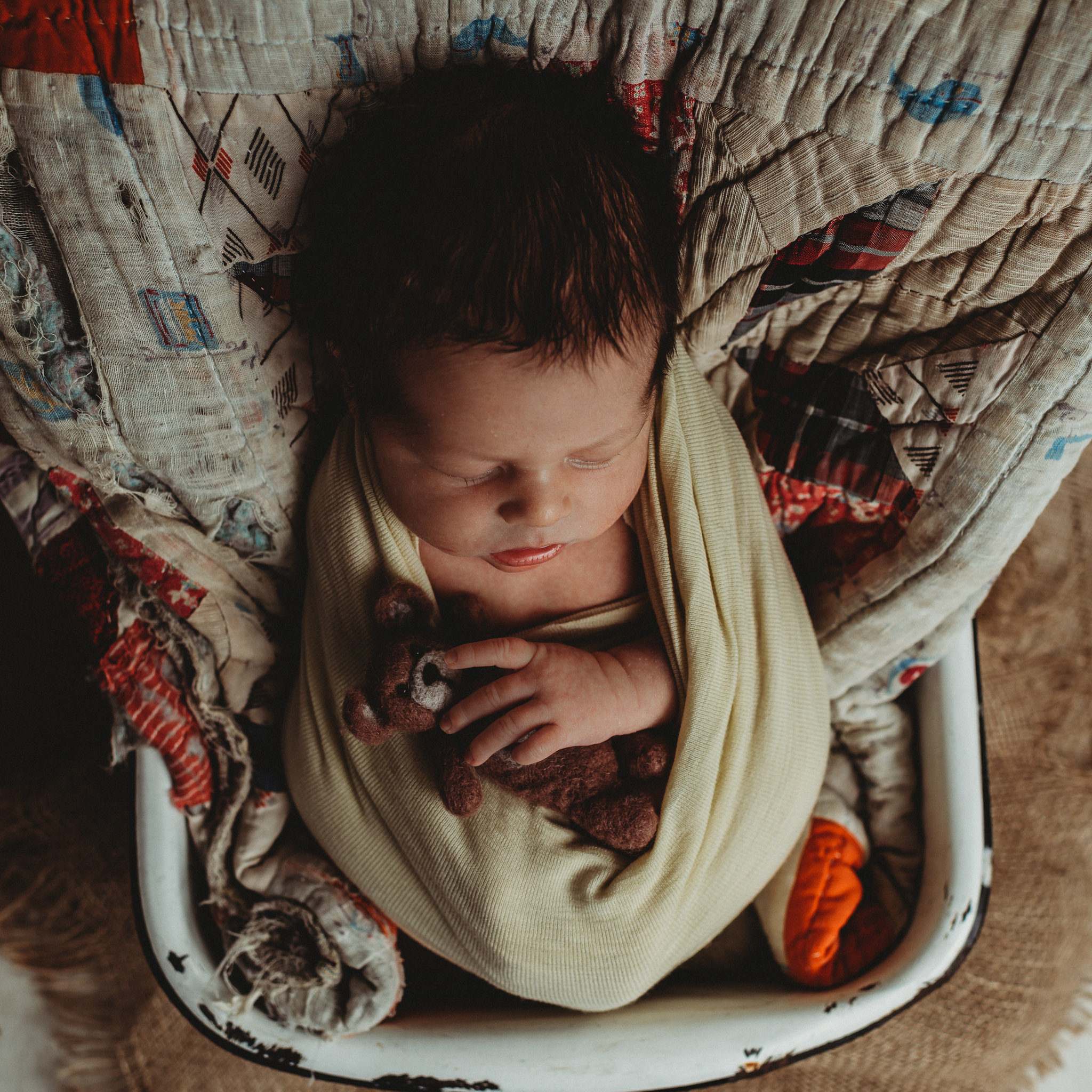 Newborn Rustic Photography | Terry Farms Photography