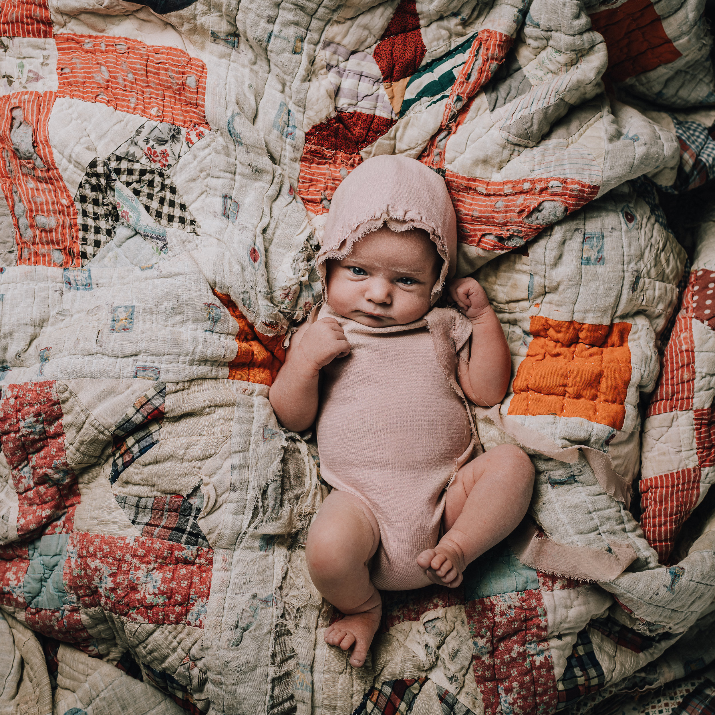 Vintage Newborn Session | Michigan | Terry Farms Photography
