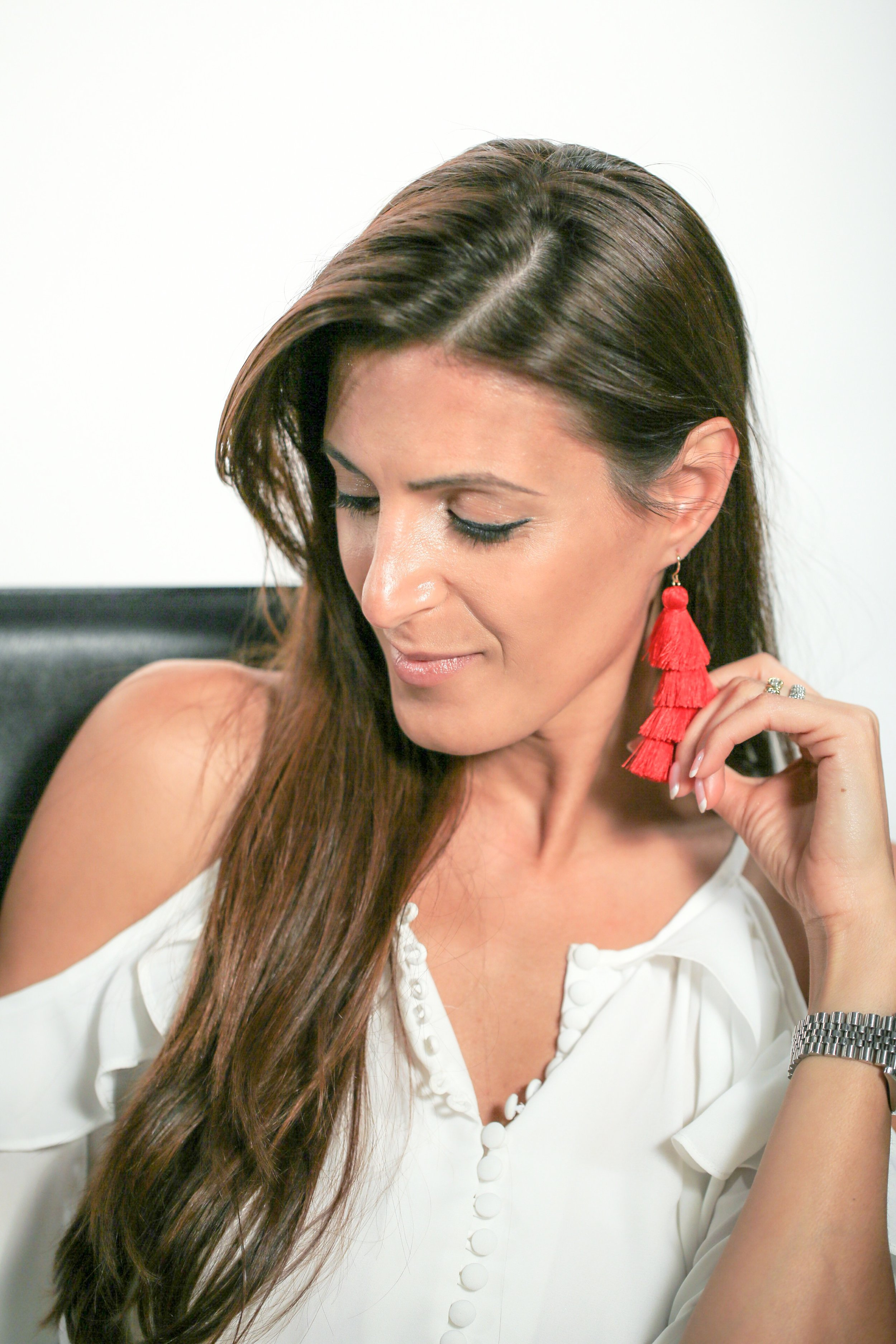 GUYSSSSSSS!Everyone MUST own a pair of  tassels  this summer and I mean EVERYONE! They are the most playful 'in the moment' coveted statement earring this summer and they are show stoppers!