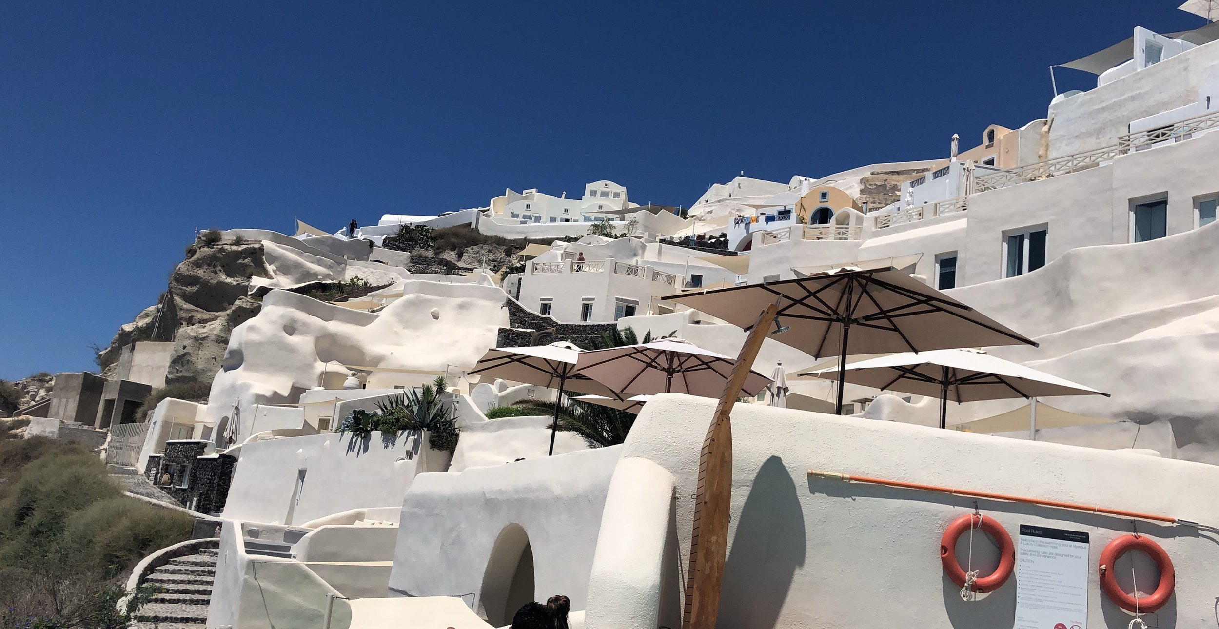 Our hotel, Mystique, was made out of caves that sat alongside the picturesque mountains of Santorini.