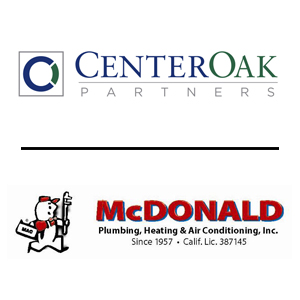 November, 2018: CenterOak Partners acquires McDonald Plumbing, Heating & Air (Sacramento, CA)