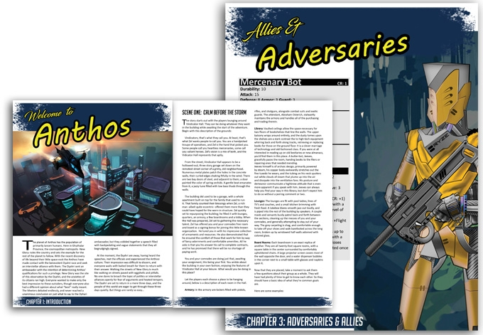 Book layout for my latest Otherworlds RPG adventure