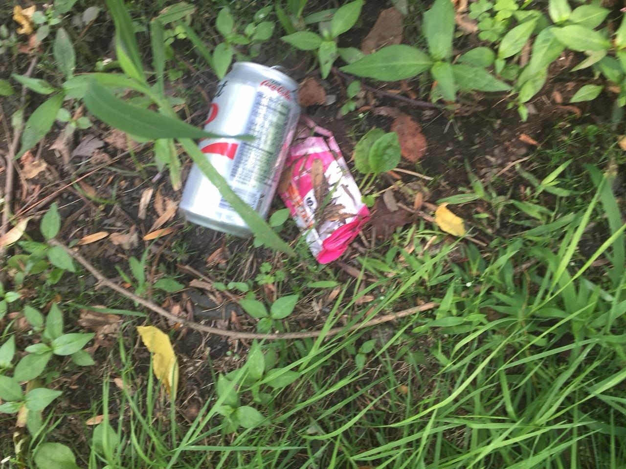 A Coke can and a gel. Hmm…who might have done this? Not a runner…ha!  Dave McGillivray