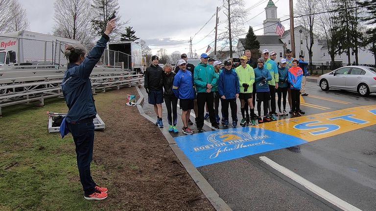 Dave McGillivray at the start of the Boston Marathon  CHRISTINA MARTIN/DMSE SPORTS