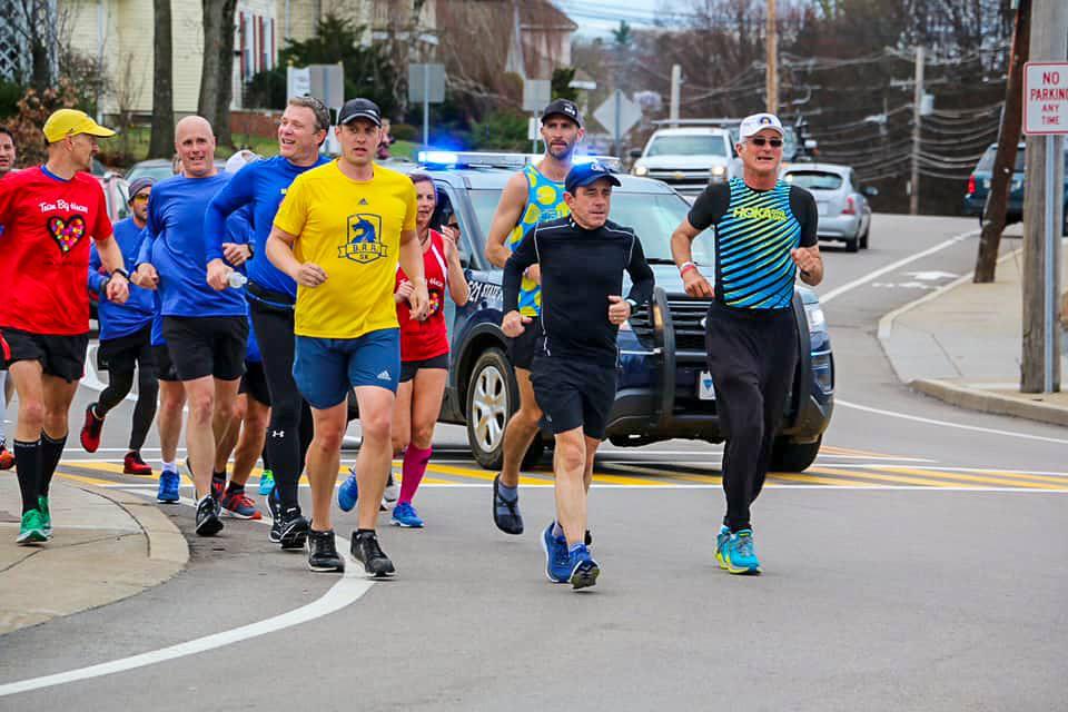 Dave McGillivray runs the Boston Marathon each year after the official race.   Bob McGillivray
