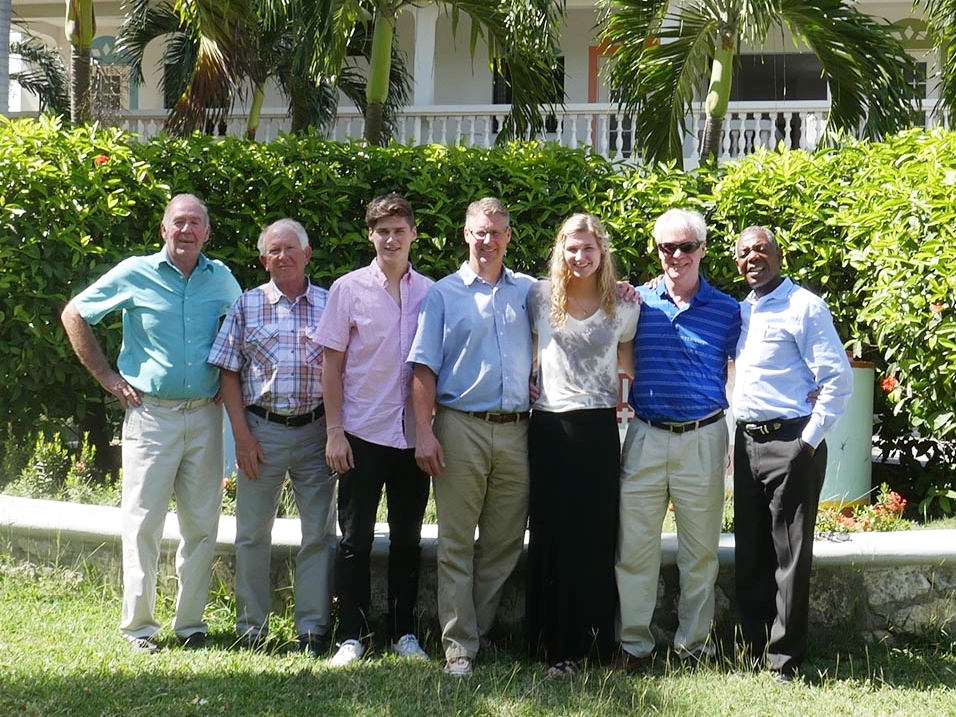 The March 2017 TPM team with Wilbert Merzilus, Executive Director of Living Hope Missions, Haiti.