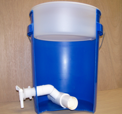 Cross-section of the 5 gallon family filter