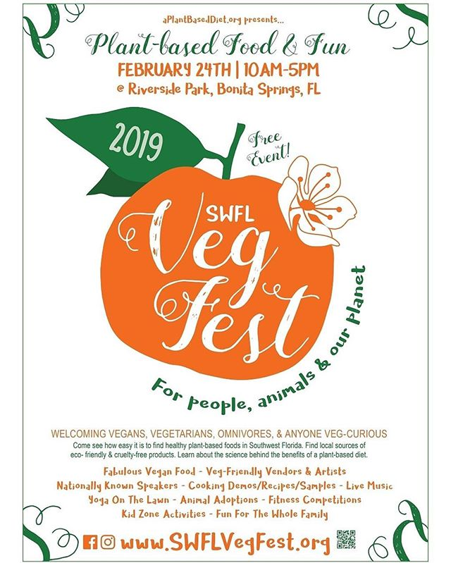 3.5hrs and counting! Today's the big day! There will be thousands of people there. Our advice: get there early! Beat the lines and the crowds! See ya soon! #veganbbq #swflvegfest @swflvegfest
