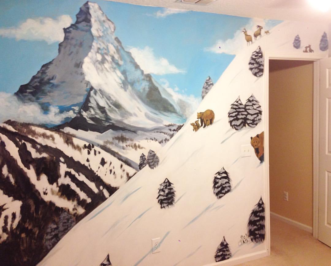 Nursery mural painted in Nocatee, FL