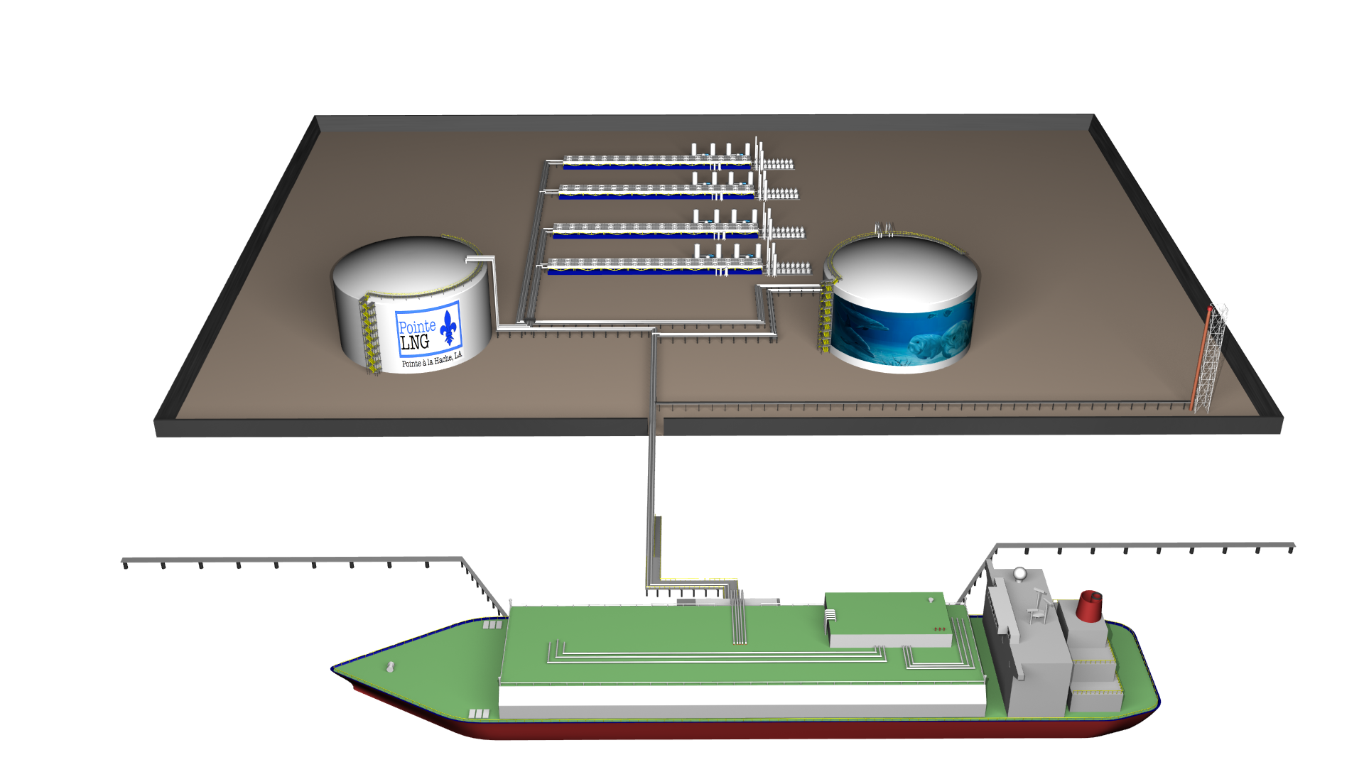 Pointe LNG Front View 2 Shore Tank.png