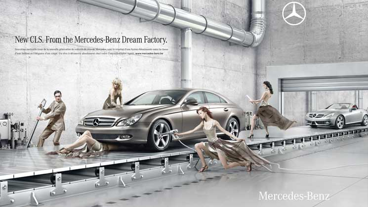 Mercedes-Benz - Dream Factory, 2008  Advertising agency: BBDO Belgium Photographer: Christophe Gilbert