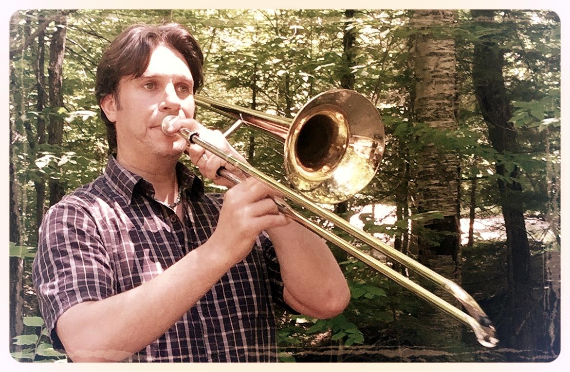 Mike Boschen trombone practice