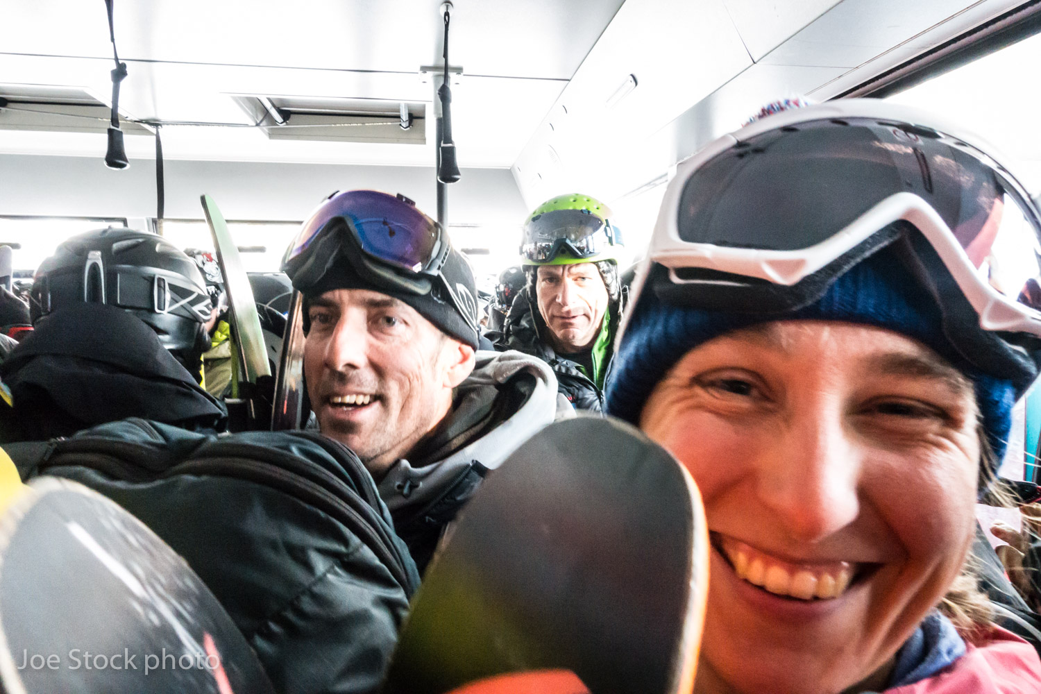 John Fitzgerald, Don Sharaf and Erica Engle on the Jackson Hole tram during a four-day American Avalanche Association professional training course. Next year US avalanche education is splitting into professional and recreational tracks. This course was for the instructors who will be teaching the pro-level courses to guides, ski patrolers and other avalanche professionals.