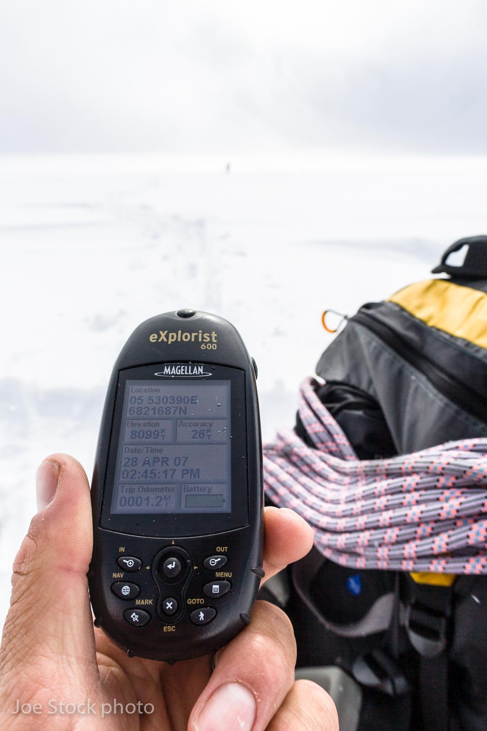 Navigating by GPS in the Tordrillo Mountains in the Alaska Range. Maps worldwide show glacier elevations higher than your GPS will read.