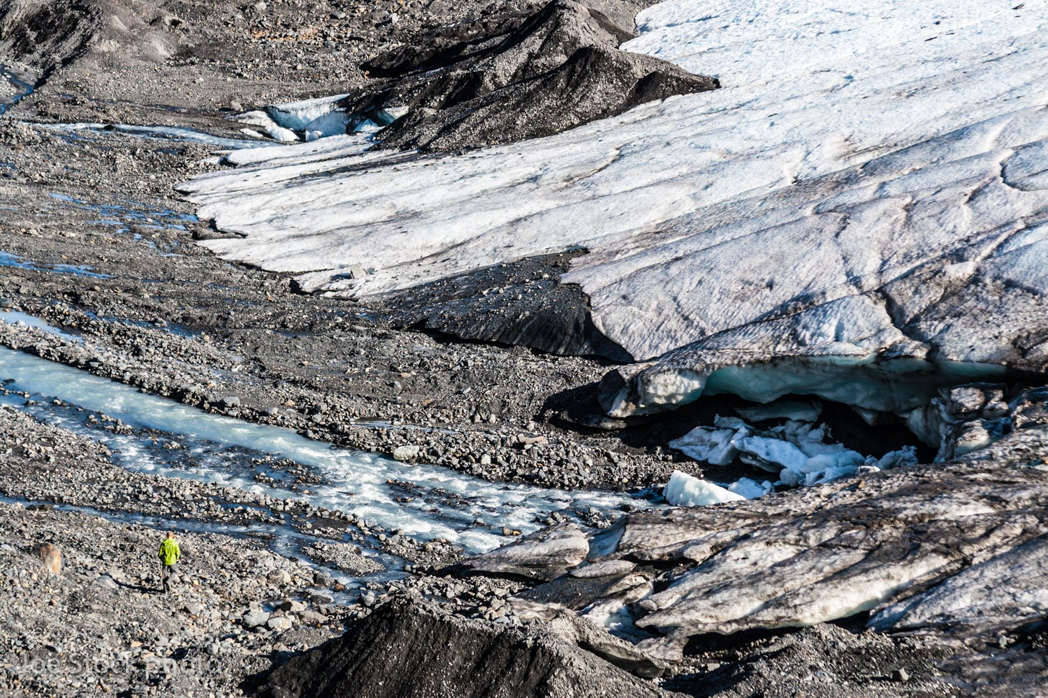 The Raven Glacier in the Western Chugach. You can walk right onto receding glaciers.