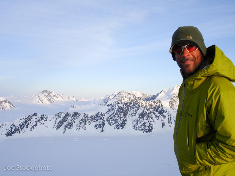 Wex above the Nelchina Glacier.