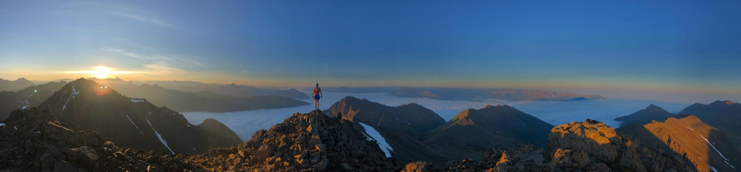 Matt Shryrock on South Suicide at 5:30 am. Photo by Adam Jensen.