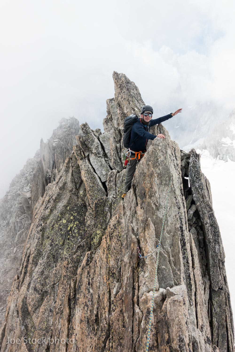 Jeff Munro on the classic Traverse of the Entrèves on the French Italian border.
