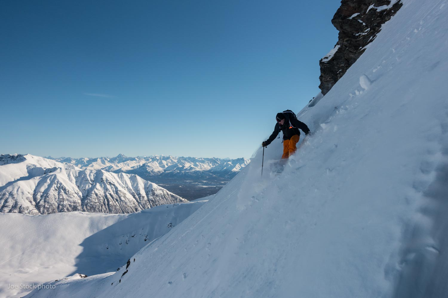 Back home in Alaska skiing with Scott Rowley at Hatcher Pass. Alaska still has the best skiing on earth.