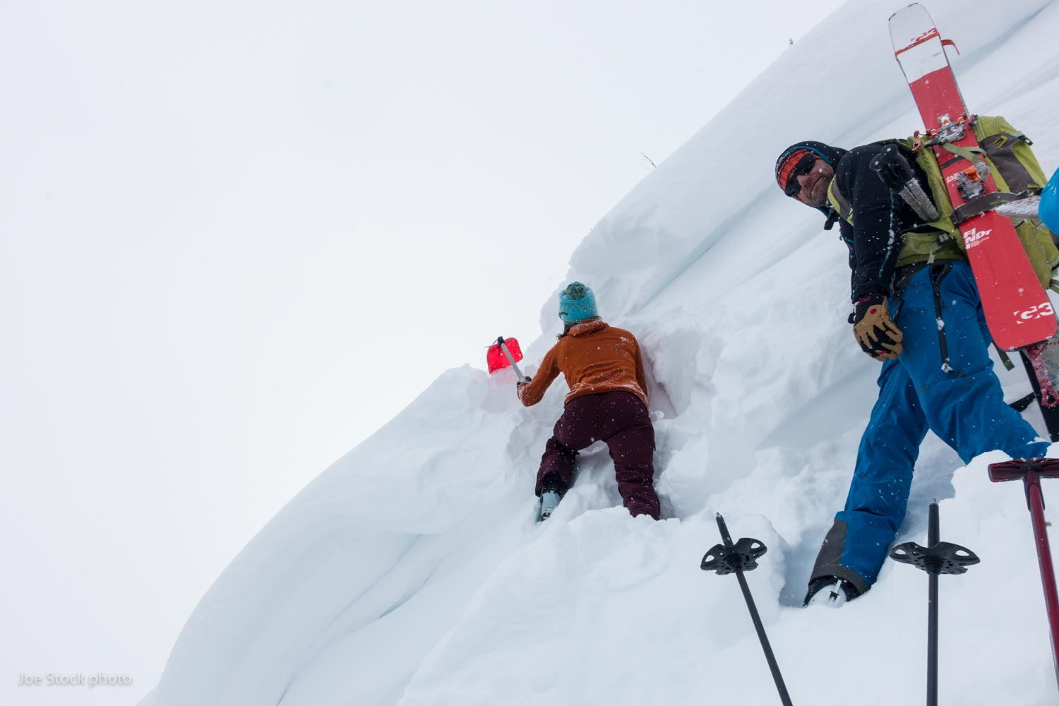 """It gets rowdy real quick,"" Andrew explained before we met his Austrian coworkers from Canadian Mountain Holidays for a day of backcountry skiing near Canmore, Alberta. Cornice burrowing and a whoomphing snowpack—a typical day in the Rockies."